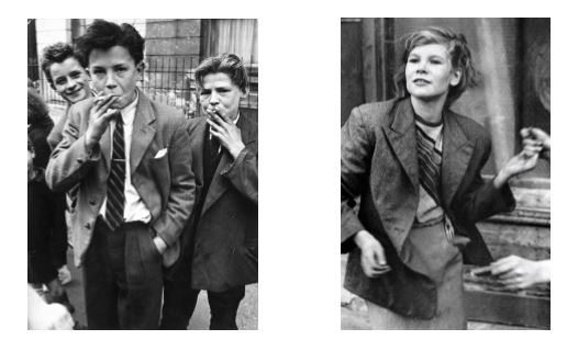 Black and white photographs of Roger Mayne and Bert Hardy