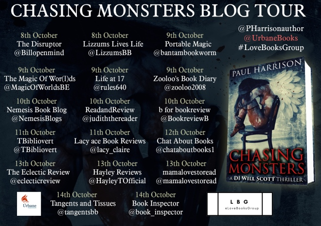 Chasing Monsters Blog Tour Poster