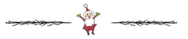 Divider with Santa