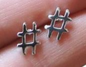 Hashtagearrings